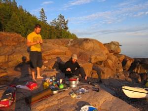 Matlagning på klippor Höga Kusten